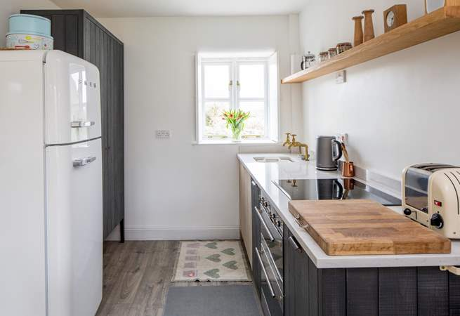 The very stylish deVOL kitchen is a cook's delight, with ceramic hob and double oven.