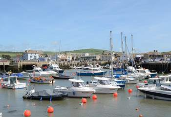Meander around West Bay, still a thriving fishing port; choose something tempting for supper from the traditional fish shop.