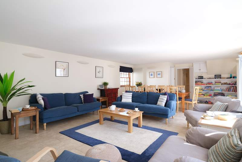 The open plan living/dining-room has plenty of space for everyone.