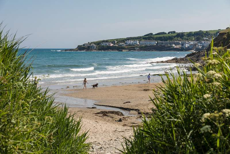Just up the coast on the Roseland is Portscatho, a great family day out location.