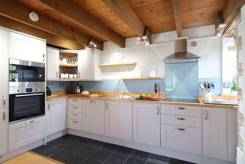 You will enjoy cooking up a feast in this smart kitchen.