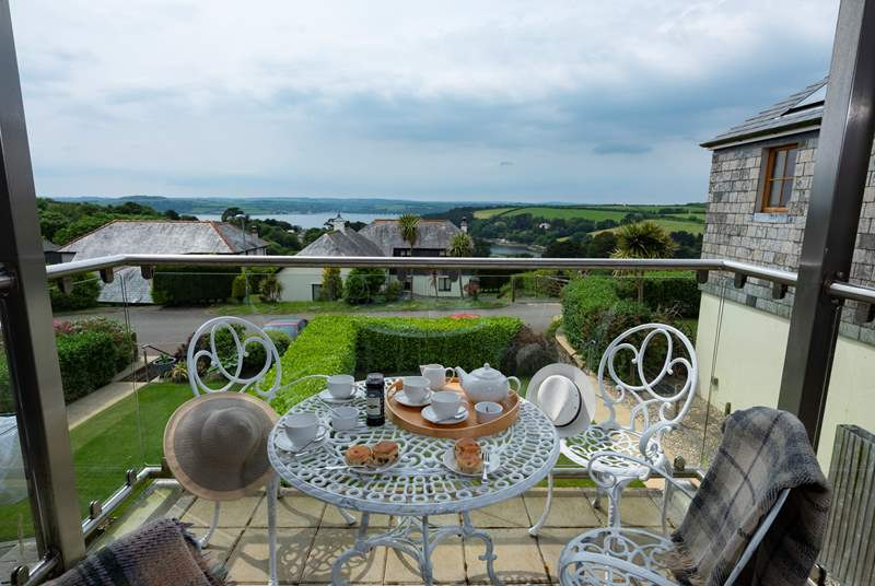 The Balcony enjoys views over the Carrick Roads.