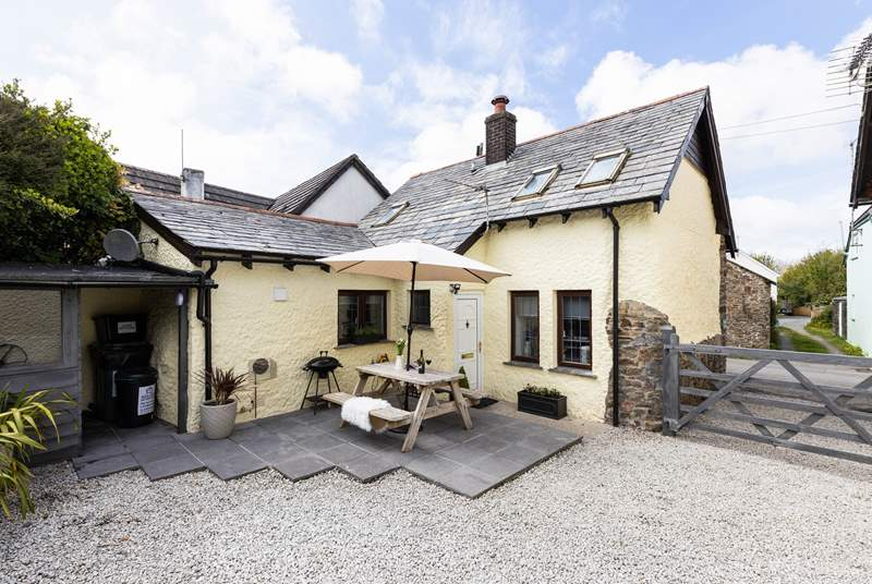 Welcome to Bluebell Cottage - the pretty enclosed courtyard is a lovely place to sit and relax.