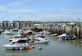 West Bay is an important harbour for landing locally-caught seafood.