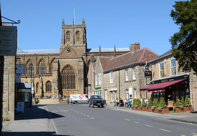 Nearby the beautiful market town of Sherborne, with its impressive Abbey.