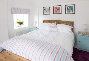 The master bedroom has a gorgeous 5ft bed and dual aspect windows.