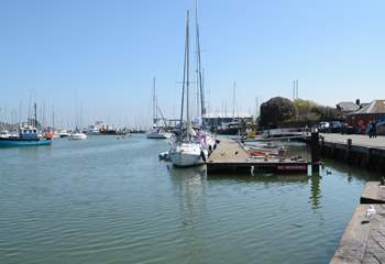 The nearby marina is a lovely place to marvel at the yachts and people watch.