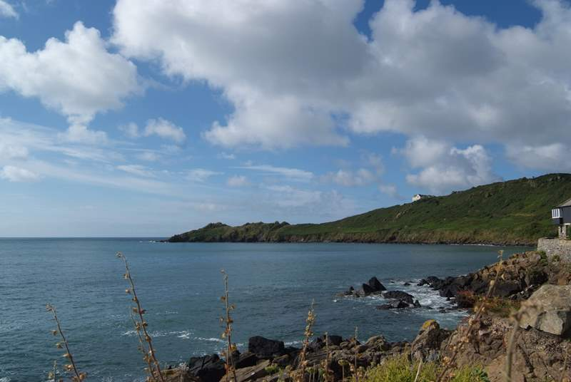 There are pretty coves either side of Coverack which are worth exploring by foot, simply follow the coast path.