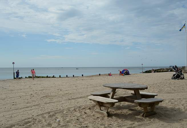Avon beach is a ten minute walk from Sandy Days, plenty of space for building sandcastles.