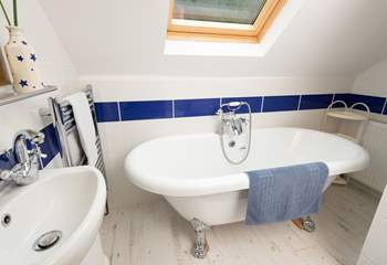 This bathroom is also on the first floor, right next to the main bedroom.