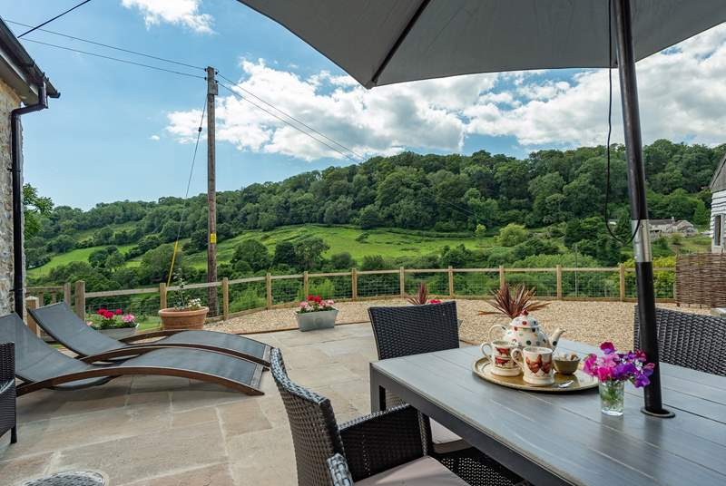 There is a stunning terrace for al fresco meals and simply relaxing in beautiful surroundings.