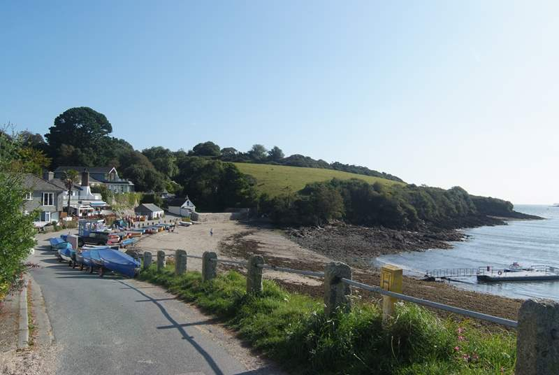 The coastal footpath passes through Swanpool on its way to the Helford River.