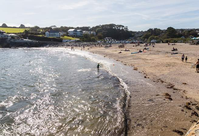 Swanpool beach is only a 10 minute walk away.