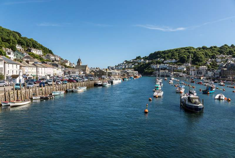 The working fishing town of Looe provides traditional seaside charm where you can try your luck at crab, mackerel or even deep sea shark fishing.