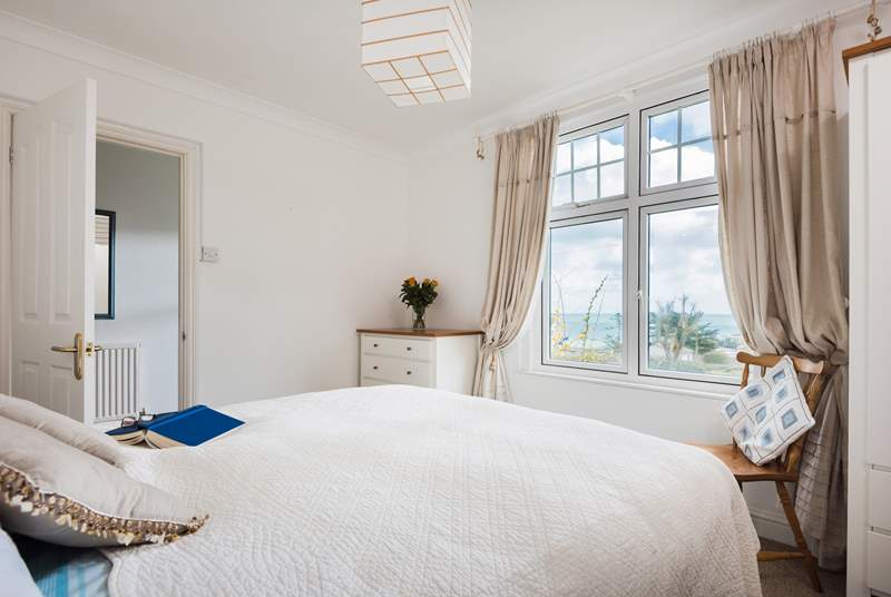 The master bedroom at the front has those wonderful views.