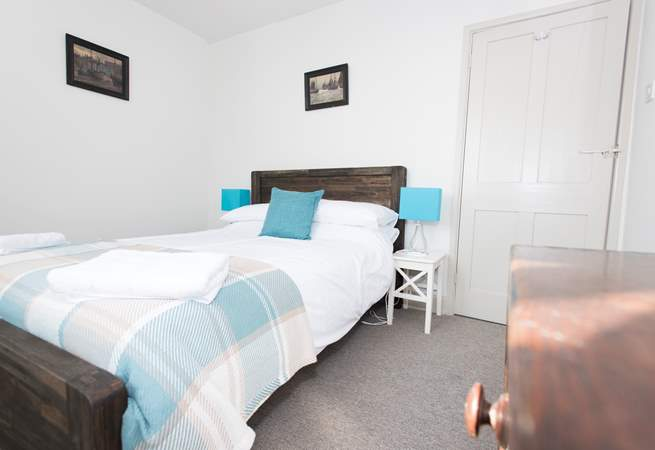 Bedroom 4, another double room with sea views.