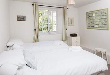 Bedroom 2, the Master Bedroom, has a 6ft 'zip and link' bed which can be made up as two single beds as seen here.
