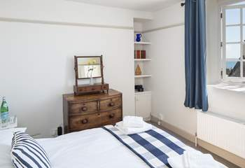 Bedroom 3, one of the two double bedrooms, with some lovely vintage features.