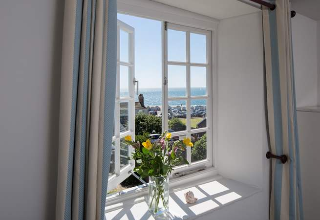 Breathe in really fresh sea air and enjoy being on holiday. The view from Bedroom 4.