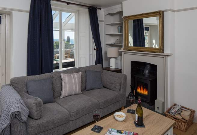 A cosy wood-burner for those snug evenings in.