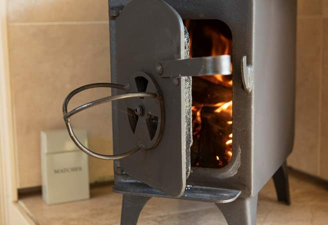 There is a cosy little wood-burner in the corner and under-floor heating too for the cooler months.