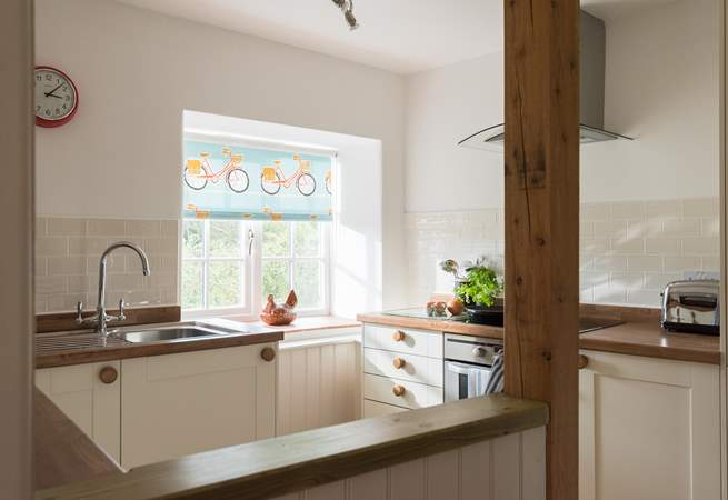 The kitchen is an open and sociable space.