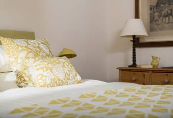 The surprisingly spacious ground floor bedroom is both stylish and comfortable.