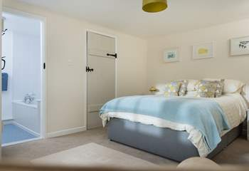 The double bedroom is at the opposite end of the cottage and has a 5ft double bed.