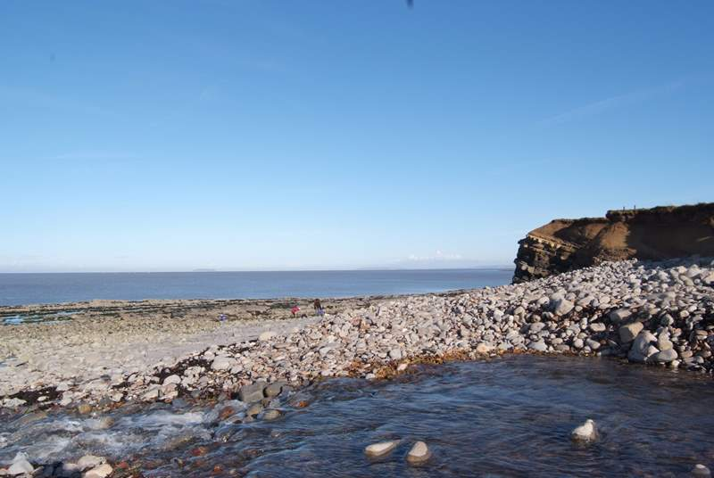 Another image of the pebbled beach at Kilve.