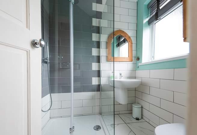 The modern shower room.
