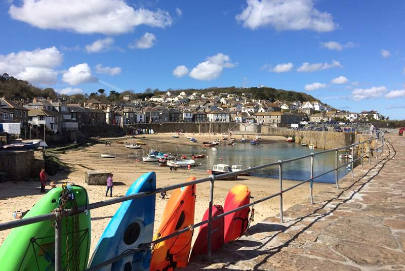 The pretty harbour at Mousehole is worth a visit