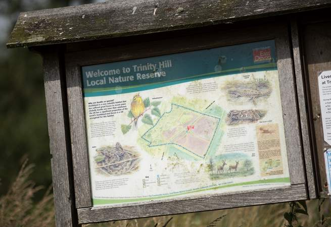 Trinity Hill Nature Reserve is within walking distance.