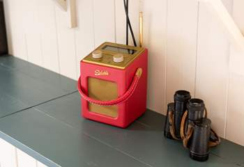 Pop the radio on over breakfast, and who knows what kinds of wildlife you will spot with the binoculars!