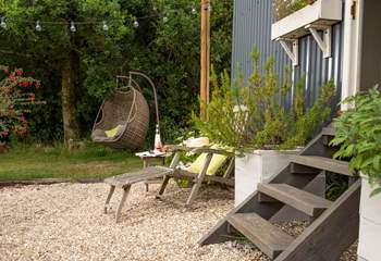 Sit back and relax in the sun lounger or swing seat, the choice is yours.