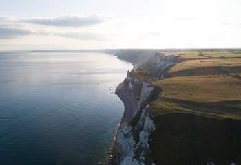 The cliffs that jut out between Beer and Branscombe - a great section of the South West Coast Path.