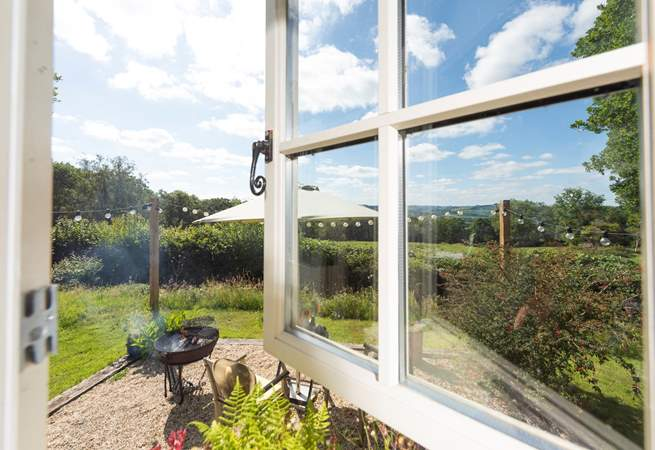 The glorious views can be enjoyed from inside and out.