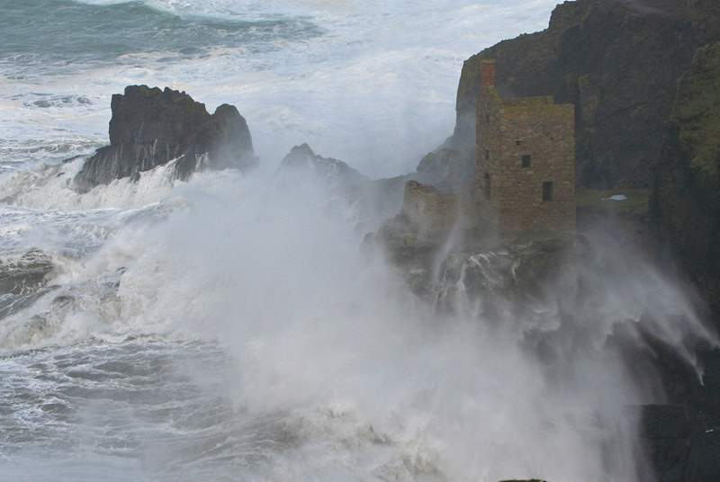Crashing seas at Botallack.