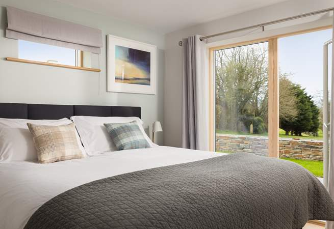 Both of the ground floor bedrooms enjoy the views across the golf course.