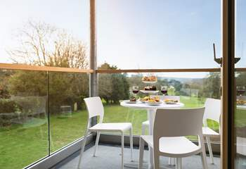 Afternoon tea with a view - and what a view!