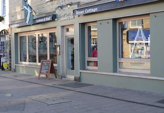 The River Cottage Canteen and Deli are in the nearby town of Axminster.