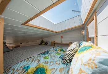 The ceiling hatch is perfect for star-gazing, although a blackout blind will prevent the mornings being too early!