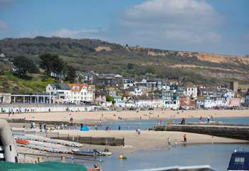Take a stroll along the beach and the Cobb.