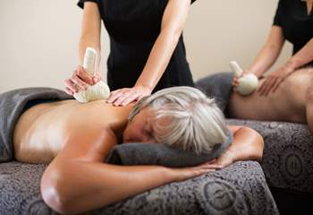 Book your treatments before you arrive, a treat to look forward to.