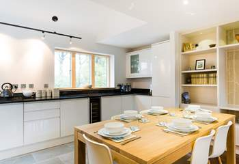The open-plan kitchen - perfect for breakfast, lunch or dinner or perhaps treat yourselves and book a table in the restaurant tonight!