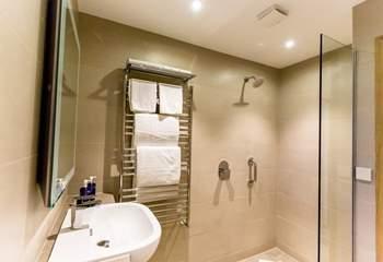 Fully-tiled, luxury bathrooms.