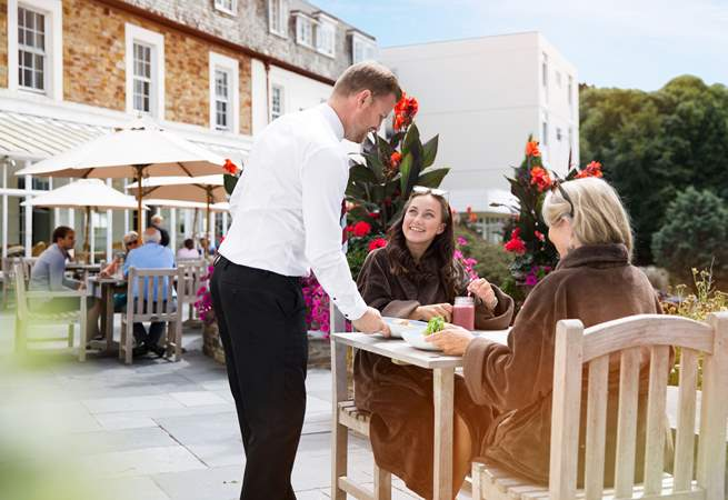 Why not book a treatment at the spa before you arrive....a relaxing massage perhaps? To follow, indulge in a tasty lunch on the terrace.