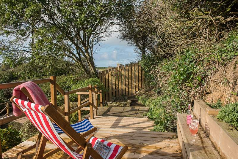 The upper decking area is the ideal place to sit back and relax.
