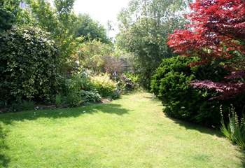 The delightful enclosed garden is perfect for young children and your four-legged friend.