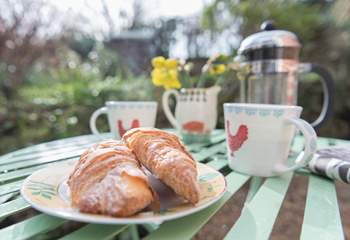 Enjoy breakfast on a sunny morning while you plan out your day ahead.