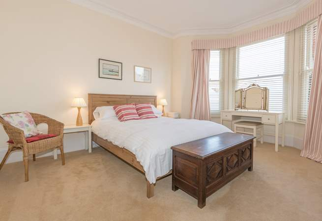 The master bedroom is situated to the front of the property...